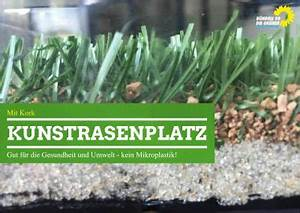 Kork Pinnwand Ohne Rahmen : kunstrasenplatz mit kork ohne mikroplastik b ndnis 90 ~ Michelbontemps.com Haus und Dekorationen