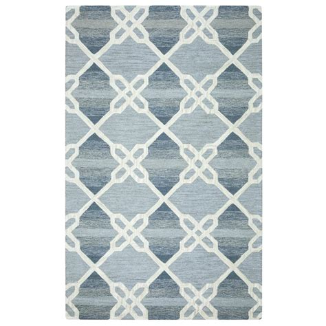 10 Ft Trellis by Rizzy Home Caterine Blue Trellis 8 Ft X 10 Ft Area Rug
