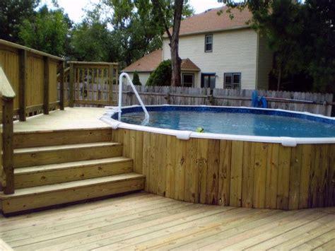 Pool Deck Plans 24 Foot Round Design