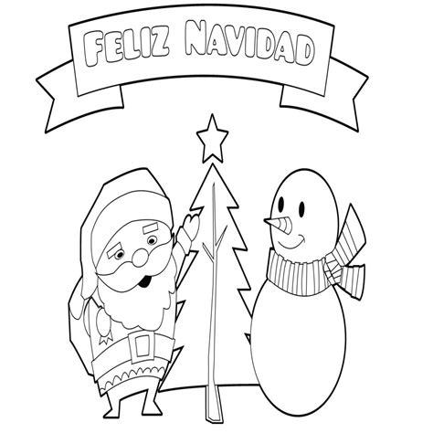 dibujos de feliz navidad para colorear e imprimir im 195