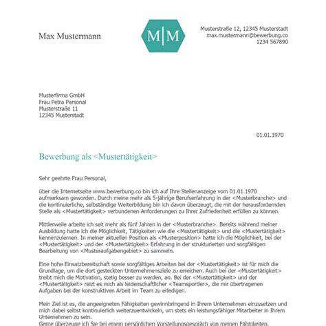 Bewerbungsvorlagen Muster by Bewerbungsschreiben Vorlage 2018 Bewerbung Co