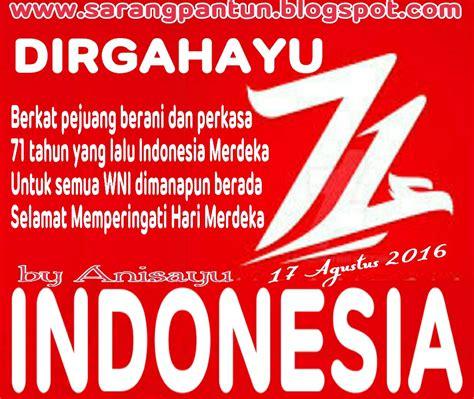pantun cinta pantun hut ri dirgahayu indonesia