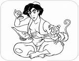 Aladdin Coloring Abu Colorir Alladyn Lamp Genie Jafar Alladyna Lampa Arts Disney 1951 Desenhos Colorironline Printable Desenho Wyszedł Będzie żeby sketch template