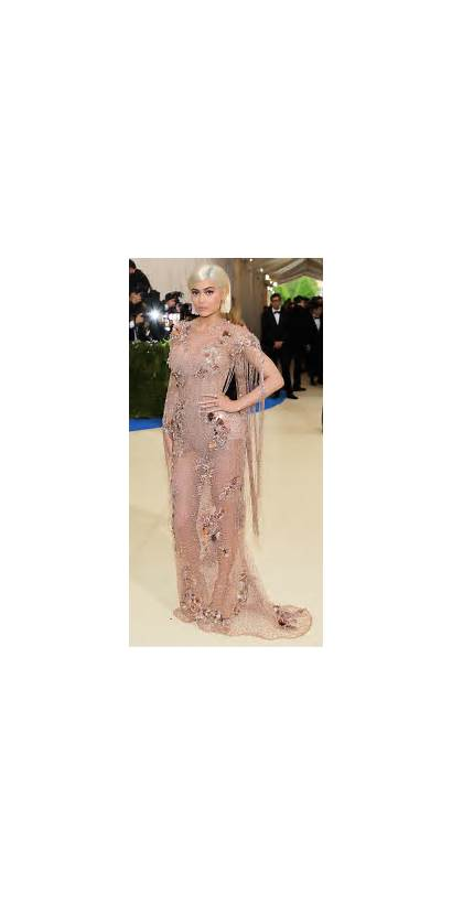 Kylie Jenner Gala Versace Sheer Slow Gowns