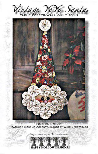 vintage yo yo santa pattern  happy hollow designs
