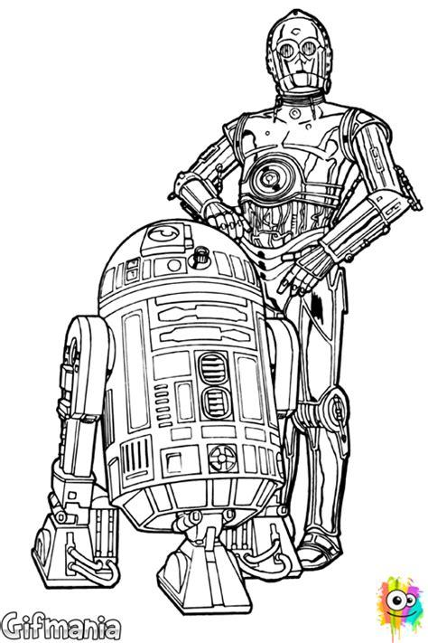 C3po Kleurplaat by R2 D2 Y C 3po Coloring Page