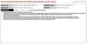 Sewing Machine Operator Resume by Lieutenant Resume Sles Department Lieutenant Description Resume Lieutenant
