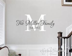 Wall decals quote personalized family name wall decal name for The best of family decals for walls