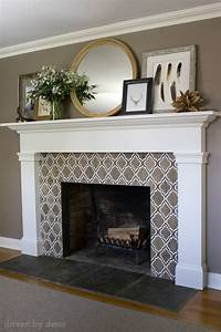 Our new fireplace driven by decor for Stylish options for fireplace tile ideas