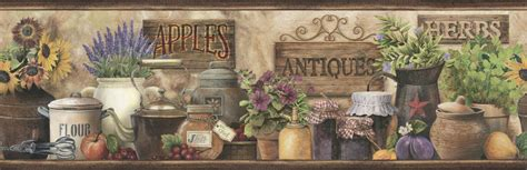 country kitchen border country kitchen wallpaper border herbs floral wallpaper 2736