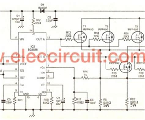 inverter circuit 10w to 500w eleccircuit learn more