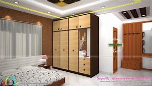 master bedroom living and wardrobe designs kerala home With wardrobe interior decoration in house