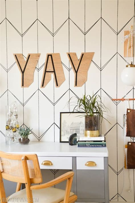 diy wallpaper   sharpie vintage revivals
