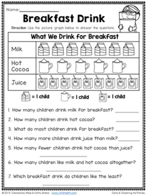 data and graph worksheets for 1st grade data and graphing for first grade by chilimath tpt