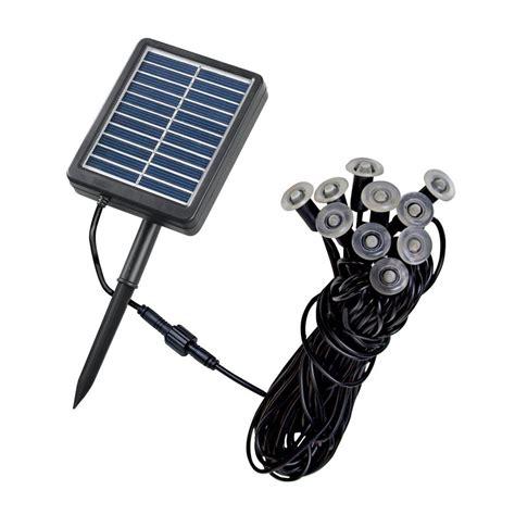 solar lighting kits shop kenroy home 10 light black 0 07 watt led path light