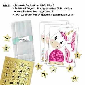 Adventskalender Zum Befüllen : adventskalender einhorn vorgestanzter motivkalender papierdrachen ~ Orissabook.com Haus und Dekorationen
