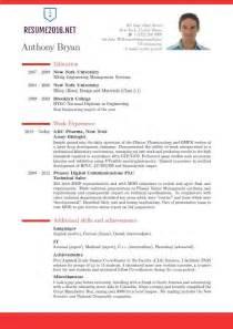 Resume Sle Templates Best Resume Format Resume Cv