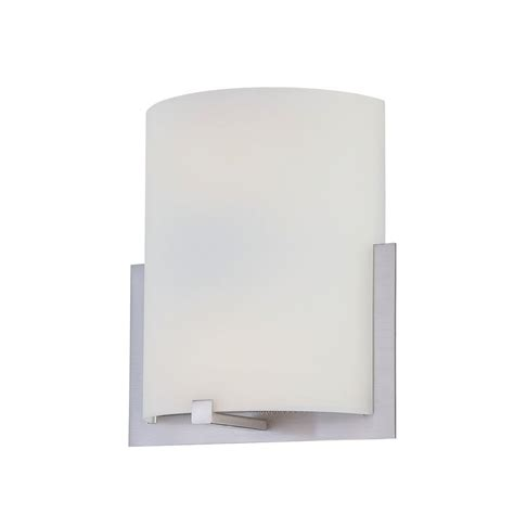 ls sconces paint illumine nashton 2 light polished steel cfl sconce cli ls