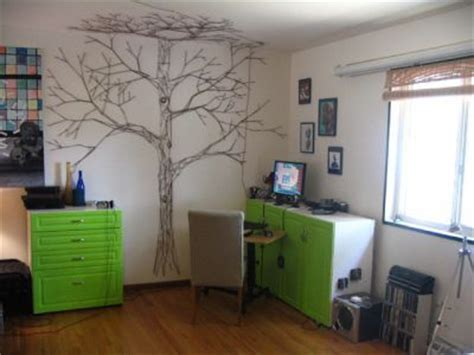 string wall tree bowerbird bookkeeping diy string tree wall mural