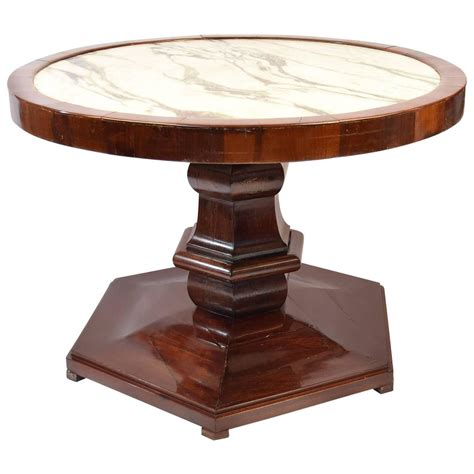 stone top side table side table in mahogany with veined marble top at 1stdibs
