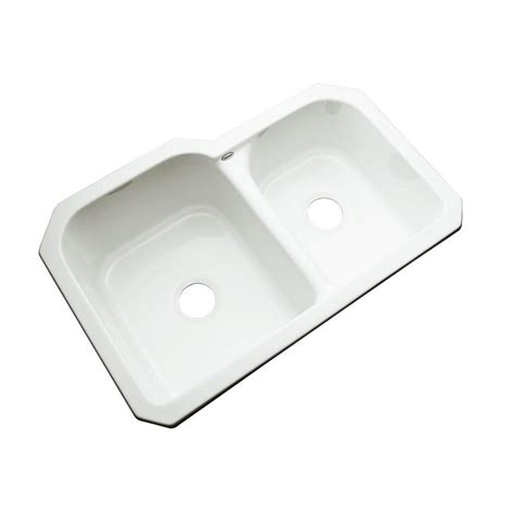 acrylic undermount kitchen sinks thermocast cambridge undermount acrylic 33 in 0 3980