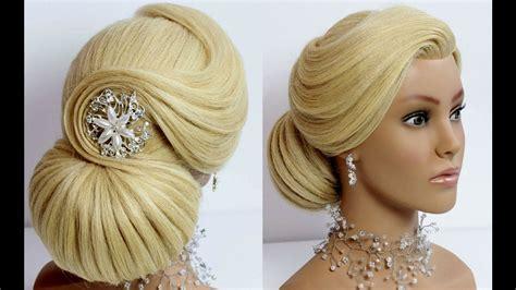 Wedding Prom Updo. Bridal Hairstyle For Long Medium Hair