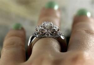 moissanite engagement rings gold three forever brilliant moissanite engagement ring with diamonds white gold