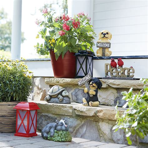 small welcome german shepherd outdoor living