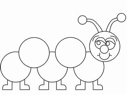 Caterpillar Clipart Coloring Printable Pages Drawing Draw