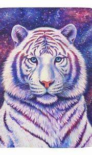 Colorful Cosmic White Tiger Baby Blanket   Zazzle.com ...