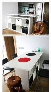 Ikea Kallax Ideen : maak van de ikea kallax kast een prachtige bar of keukeneiland 8 slimme ikea hacks zelfmaak ~ Eleganceandgraceweddings.com Haus und Dekorationen