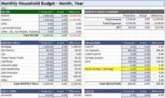 Household Budget Worksheet Excel Template 3 Household Budget Spreadsheet Templates Excel Xlts