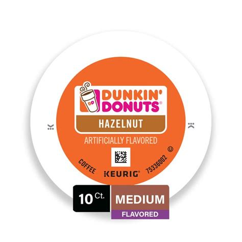 Dunkin' hot coffee w/ cream & sugar. Dunkin Donuts Hazelnut Flavored Coffee K-Cup Pods, for Keurig Brewers, 10 Count - Walmart.com ...