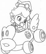 Peach Coloring Pages Baby Mario Princess Colouring Kart Popular sketch template