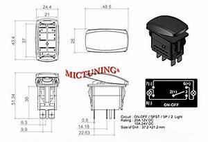 Mictuning 5pin Laser Zombie Rocker Switch On