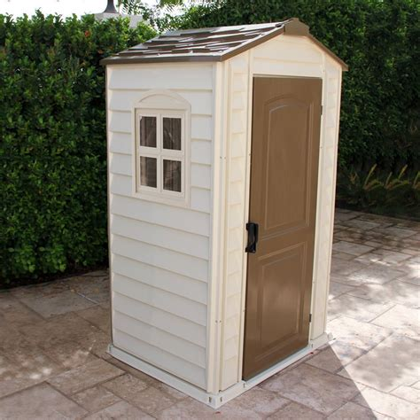 plastic sheds lowes duramax building products 4 ft x 3 ft shelter pro storage