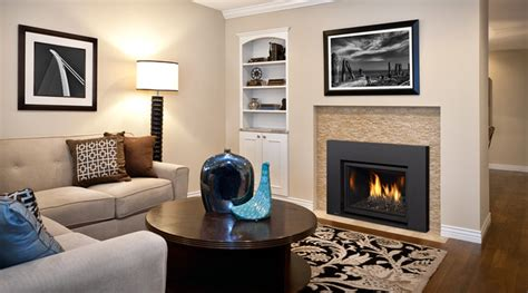 gas fireplace inserts contemporary living room