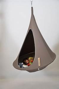 Fauteuil Suspendu Enfant : fauteuil suspendu bebo tente 120 cm pour enfant taupe cacoon made in design ~ Melissatoandfro.com Idées de Décoration