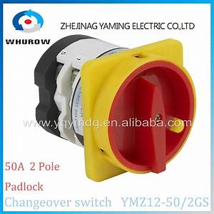 Rotary Switch 2 Position Off On Ymz12 50  2gs Padlock