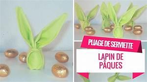 Pliage Serviette Lapin Simple : pliage de serviette lapin pour la table de p ques youtube ~ Melissatoandfro.com Idées de Décoration