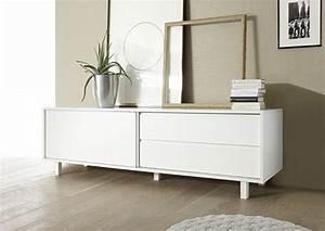 Meuble Bas Sejour : meuble bas aladin alexandrie blanc mat ~ Teatrodelosmanantiales.com Idées de Décoration