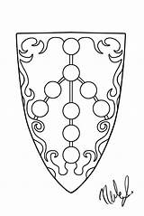 Shield Coloring Pages Template sketch template