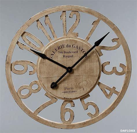 Große Runde Wanduhren by Riesige Wanduhr 77cm Holz Uhr Frankreich Neu Ebay