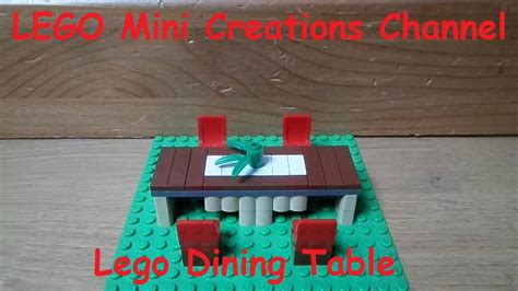 mini lego table lego mini creation lego dining table lego dining room