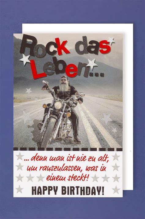 geburtstag männer bilder m 228 nner geburtstag karte gru 223 karte glitterdruck biker rock 16x11cm avancarte