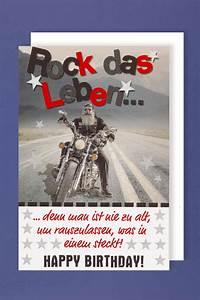 Geburtstag Männer Bilder : m nner geburtstag karte gru karte glitterdruck biker rock 16x11cm 513562 ~ Frokenaadalensverden.com Haus und Dekorationen