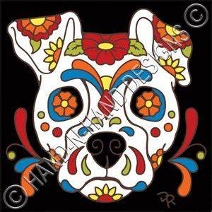 Amazon.com: 6x6 Tile Day of the Dead Dog Sugar Skull: Home ...