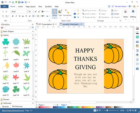 thanksgiving card software express blessings
