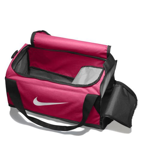 nike pink solid duffle bag buy nike pink solid duffle bag    price snapdeal