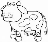 Coloring Cow Pages Lab sketch template